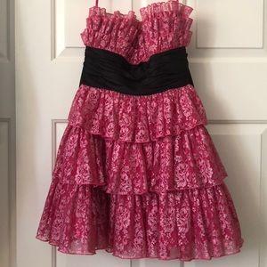 Betsey Johnson Pink & Black Dress worn by Zendaya!